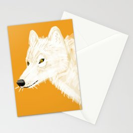 Totem white wolf nubilus Stationery Cards