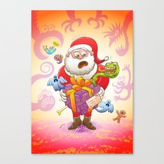 A Christmas Gift from Halloween Creepies to Santa Canvas Print