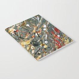 Jackson Pollock Interpretation Acrylics On Canvas Splash Drip Action Painting Notebook