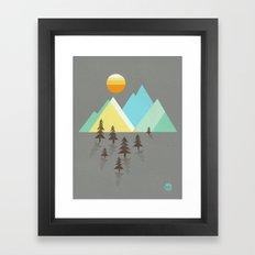 Asphalt Sun Framed Art Print