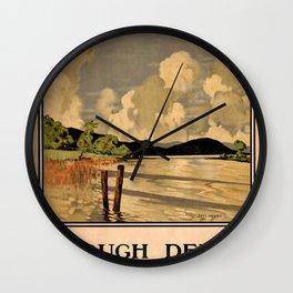 Lough Derg Vintage Travel Poster Wall Clock