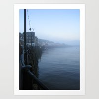 Whitby by Night, Vampire's Delight Art Print