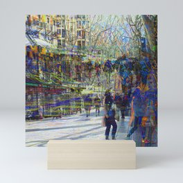 Whenever time becomes collabsible is more of where Mini Art Print