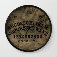 ouija Wall Clocks featuring Ouija by Andrea Raths