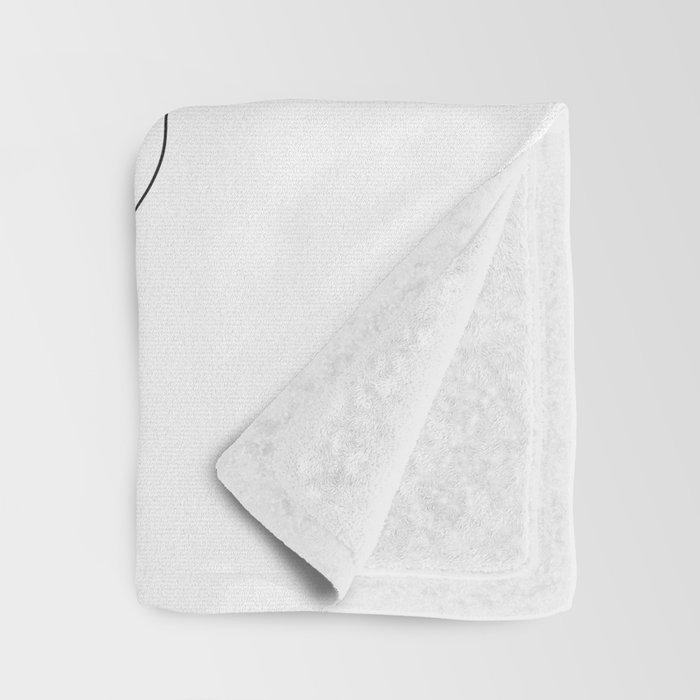 Minimal Line Art Woman Face II Throw Blanket