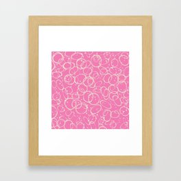 Coral Abstraction Framed Art Print