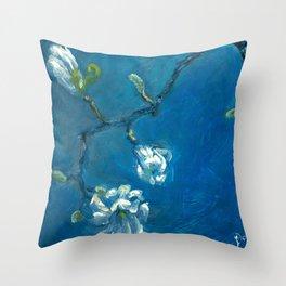 Star Magnolia Throw Pillow