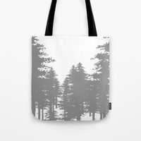 forrest Tote Bags featuring Forrest by Dan Parker