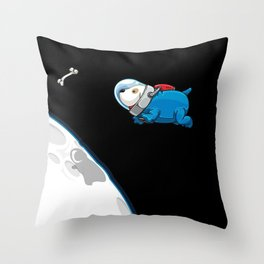 Space Bone Seeker Throw Pillow