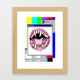FATAL ERROR Framed Art Print