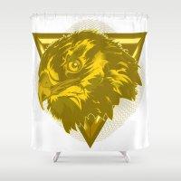 hawk Shower Curtains featuring Hawk by Joe Baron