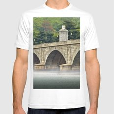 Morning Mist on the Potomac MEDIUM White Mens Fitted Tee