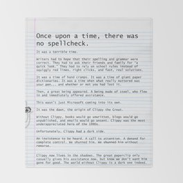 Unique Gifts For Writers: An Homage to Clippy Throw Blanket