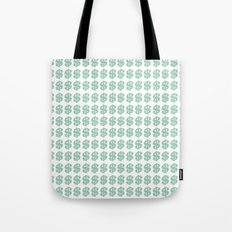 Mint Money Repeat Tote Bag