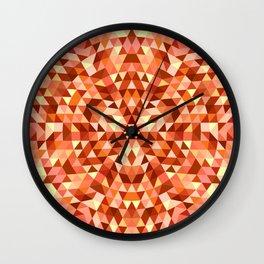 Hot triangle mandala Wall Clock