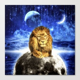 Grumpy Lion Canvas Print