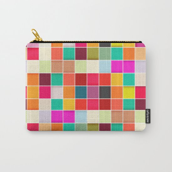 Colorful Rectangles Carry-All Pouch