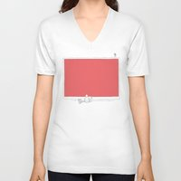 tv V-neck T-shirts featuring TV by MikeFirsov
