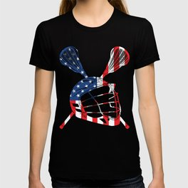 A Sports Tee For Sporty You With An Illustration Of A Helmet American Flag T-shirt Design America T-shirt