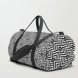 Black And White Op-Art Triangle Pattern Duffle Bag
