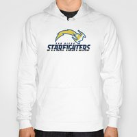 nfl Hoodies featuring San Diego Starfighters - NFL by Steven Klock