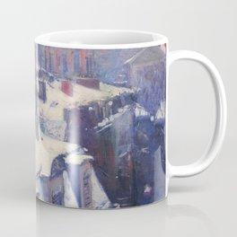 "Gustave Caillebotte ""Vue de toits (Effet de neige) - View of roofs (Snow effect)"" Coffee Mug"
