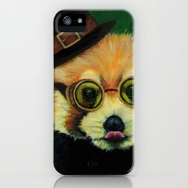 Steampunk Red Panda iPhone Case