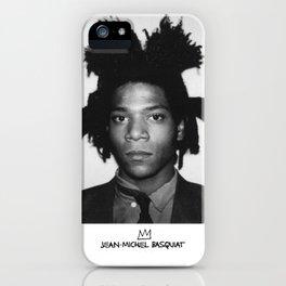Jean Michel Basquiat Signature Portrait iPhone Case