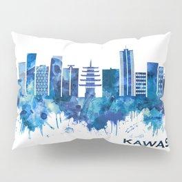 Kawasaki Japan Skyline Blue Pillow Sham