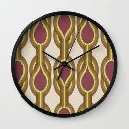 Retro-Delight - Double Drops - Fall Wall Clock