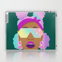 Top Puffs Girl #naturalhair #rainbowhair #shades #lipstick #blackunicorn #curlygirl Laptop & iPad Skin