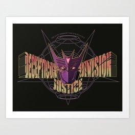 Decepticon Justice Division Art Print
