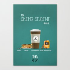 Cinema student menu Canvas Print