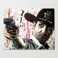 rick grimes Canvas Prints featuring Rick Grimes by Chuck Hodi