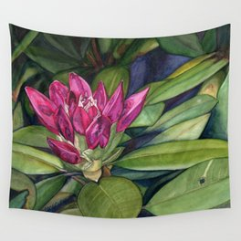 Rhododendron Bud Wall Tapestry