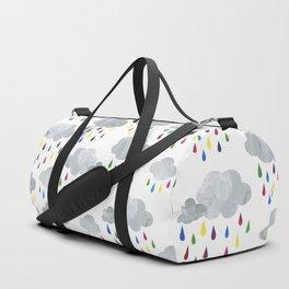 Rainbow Rain Clouds Duffle Bag