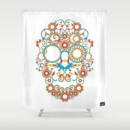 00 - STEAMPUNK SKULL Shower Curtain