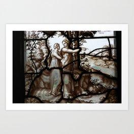 Stained glass château de chantilly Art Print