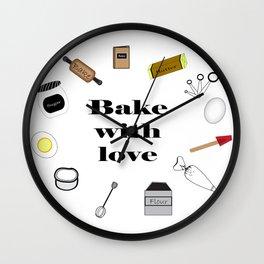 Bake with love Wall Clock