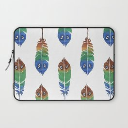 """Watercolor Painting of Picture """"Decorative Feathers"""" Laptop Sleeve"""