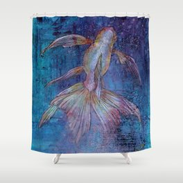Indigo Goldfish Shower Curtain
