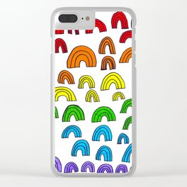 Rainbow Meta Clear iPhone Case