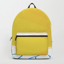 gold colored fish Backpack