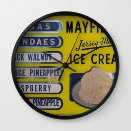 Vintage Ice Cream Sign 2 Wall Clock