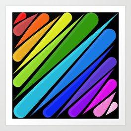 Rain Storm Rainbow Art Print