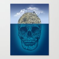 island Canvas Prints featuring Skull Island by Rachel Caldwell