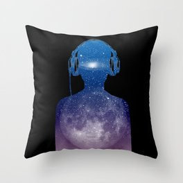 Music space Throw Pillow