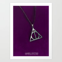 deathly hallows Art Prints featuring Deathly Hallows by TheWonderlander
