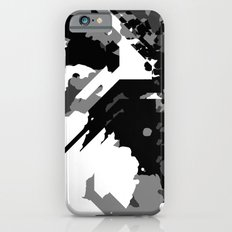 Black Gray and White Abstract iPhone 6s Slim Case