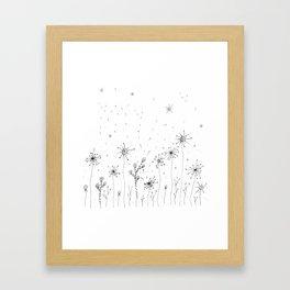 Floral Doodle Art Illustration Framed Art Print